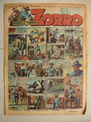 ZORRO JEUDI MAGAZINE N°223 (17 septembre 1950) Editions Chapelle
