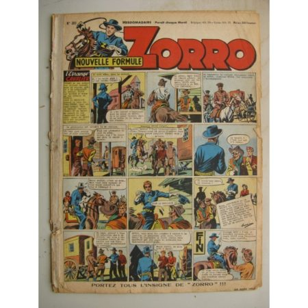 ZORRO JEUDI MAGAZINE N°303 (30 mars 1952) Editions Chapelle