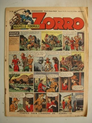 ZORRO JEUDI MAGAZINE N°305 (10 avril 1952) Editions Chapelle
