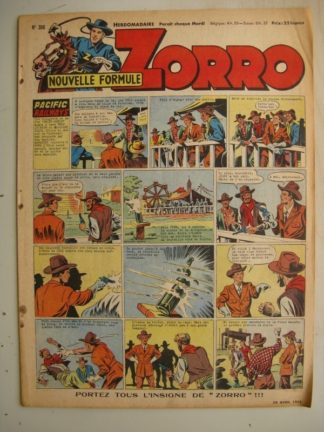 ZORRO JEUDI MAGAZINE N°306 (20 avril 1952) Editions Chapelle