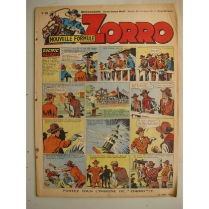 ZORRO JEUDI MAGAZINE N°306 (20 avril 1952) Editions Chapelle