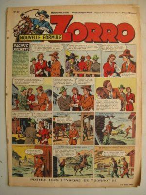 ZORRO JEUDI MAGAZINE N°307 (27 avril 1952) Editions Chapelle