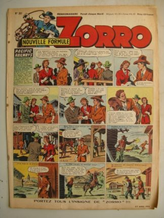 ZORRO JEUDI MAGAZINE N°307 (27 avril 1952) Editions Chapelle