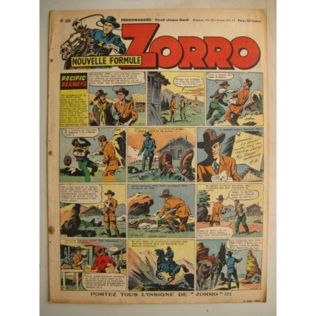 ZORRO JEUDI MAGAZINE N°308 (4 mai 1952) Editions Chapelle