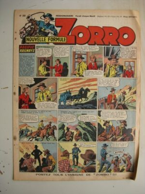 ZORRO JEUDI MAGAZINE N°309 (11 mai 1952) Editions Chapelle