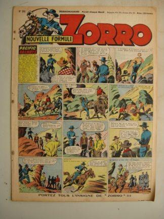 ZORRO JEUDI MAGAZINE N°310 (18 mai 1952) Editions Chapelle