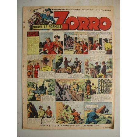 ZORRO JEUDI MAGAZINE N°312 (1er juin 1952) Editions Chapelle