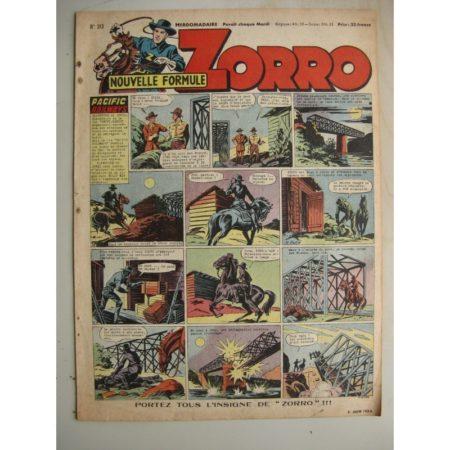 ZORRO JEUDI MAGAZINE N°313 (8 juin 1952) Editions Chapelle