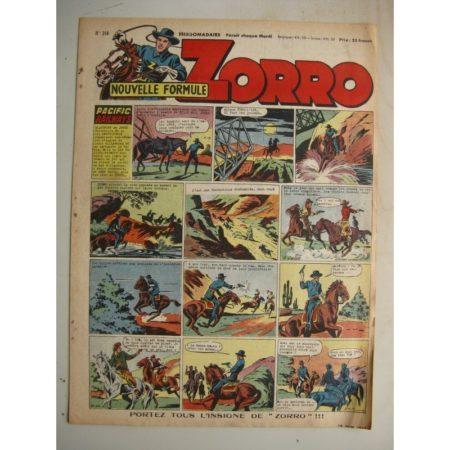 ZORRO JEUDI MAGAZINE N°314 (15 juin 1952) Editions Chapelle