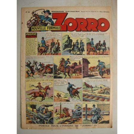 ZORRO JEUDI MAGAZINE N°315 (22 juin 1952) Editions Chapelle