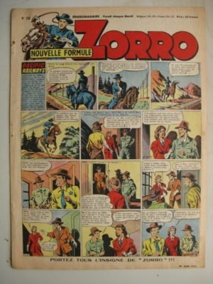 ZORRO JEUDI MAGAZINE N°316 (29 juin 1952) Editions Chapelle