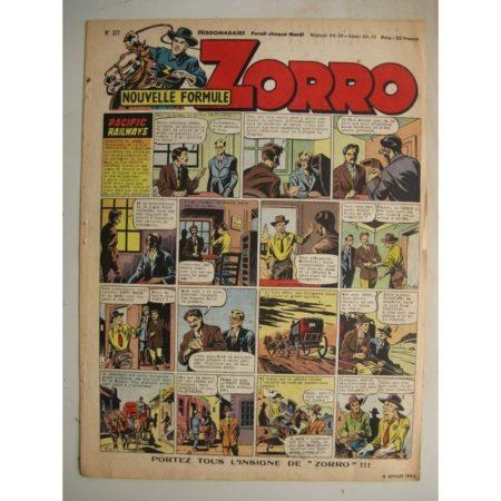 ZORRO JEUDI MAGAZINE N°317 (6 juillet 1952) Editions Chapelle