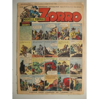 ZORRO JEUDI MAGAZINE N°318 (13 juillet 1952) Editions Chapelle