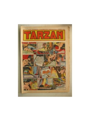 Tarzan Editions Mondiales n°165 – 20 novembre 1949 – Hogarth – Giffey – Buffalo Bill – L'Epervier – Sacrifices inconnus