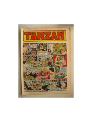 Tarzan Editions Mondiales n°166 – 27 novembre 1949 – Hogarth – Giffey – Buffalo Bill – L'Epervier – Sacrifices inconnus