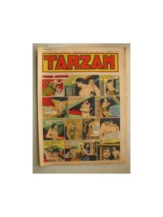 Tarzan Editions Mondiales n°166 - 4 décembre 1949 - Hogarth - Giffey - Buffalo Bill - L'Epervier - Sacrifices inconnus