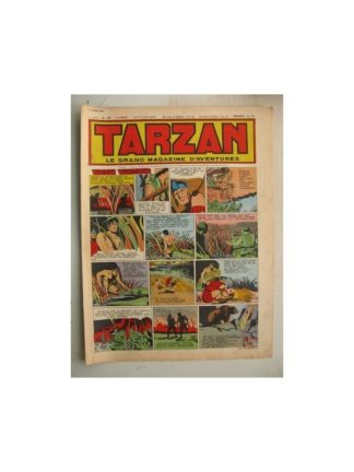 Tarzan Editions Mondiales n°187 - 22 avril 1950 - Hogarth - Giffey - Buffalo Bill - L'Epervier - Le Chevalier idéal - Dick River