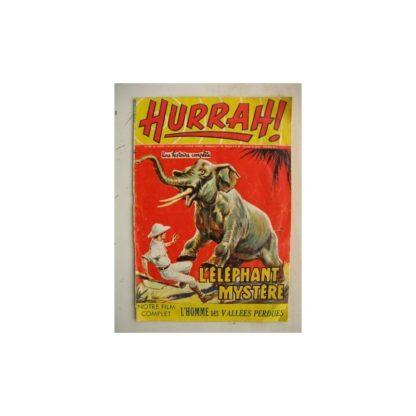 HURRAH N°122 (18 février 1956) L'éléphant mystère/L'homme des vallées perdues/Robin des Bois/Duck Hurricane/L'insaisissable