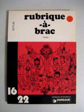 RUBRIQUE A BRAC TOME 1 (GOTLIB) 16/22 DARGAUD