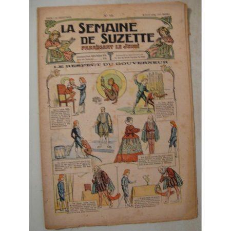 La Semaine de Suzette 10e année n°10 (1914) Le respect du gouverneur (Guydo)