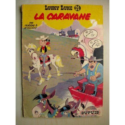 LUCKY LUKE TOME 24 - LA CARAVANE (GOSCINNY - MORRIS) DUPUIS 1970