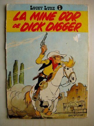 LUCKY LUKE TOME 1 - LA MINE D'OR DE DICK DIGGER (MORRIS) DUPUIS 1969