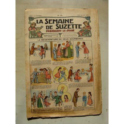 La Semaine de Suzette 11e année n°14 (1915) Les mésaventures de deux gourmands (Guydo) Bleuette (Costume d'Alsacienne)