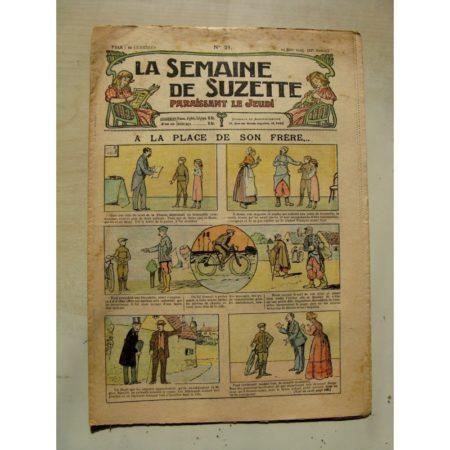 La Semaine de Suzette 11e année n°21 (1915) A la place de son frère (Léonce Burret)