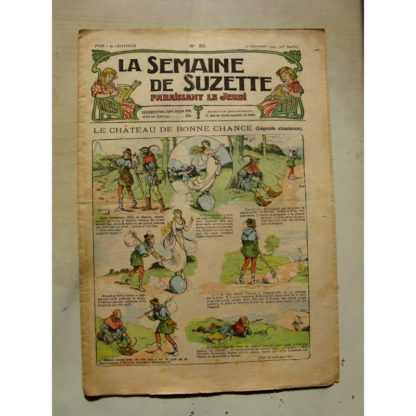 La Semaine de Suzette 11e année n°35 (1915) Le château de Bonne chance (légende Alsacienne) Bleuette (Tablier d'écolière)