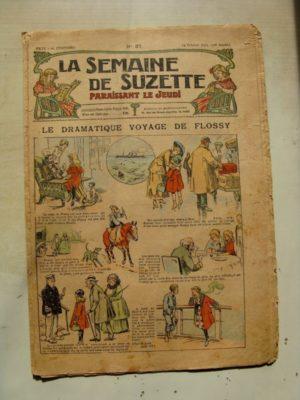 La Semaine de Suzette 11e année n°37 (1915) Le voyage de Flossy (Pinchon) Bleuette (Robe anglaise)