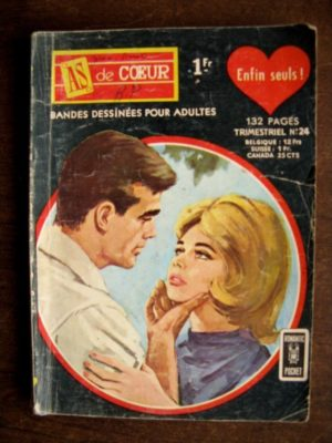 AS DE COEUR (1E SERIE) N°24 ENFIN SEULS – AREDIT ROMANTIC POCKET 1967