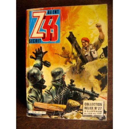 Z33 AGENT SECRET - ALBUM 27 (N°105-106-107-108) IMPERIA 1981