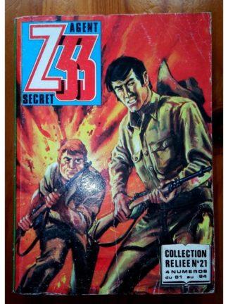 Z33 AGENT SECRET ALBUM RELIE 21 (N°81-82-83-84) IMPERIA 1979