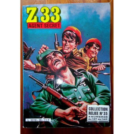 Z33 AGENT SECRET ALBUM RELIE 35 (N°137-138-139-140) IMPERIA 1984