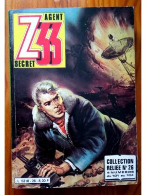 Z33 AGENT SECRET ALBUM RELIE 26 (N°101-102-103-104) IMPERIA 1981