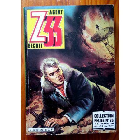 Z33 AGENT SECRET ALBUM RELIE 26 (N°101-102-103-104) IMPERIA 1981