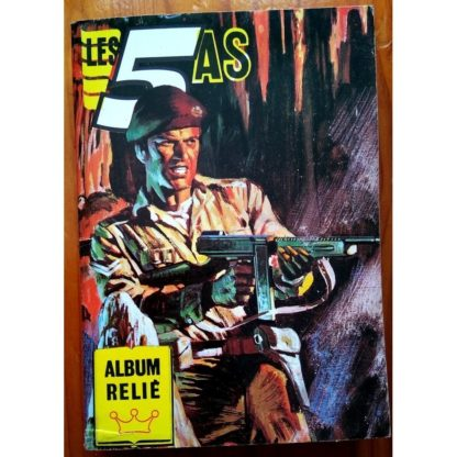 LES 5 AS ALBUM RELIE 53 (N°243-244-245-246) IMPERIA 1985