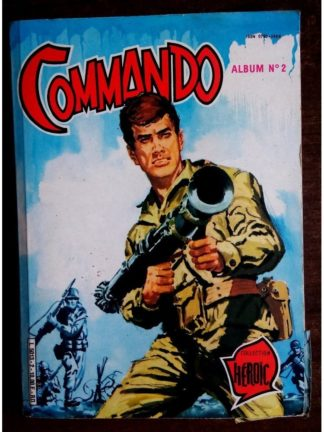 COMMANDO ALBUM RELIE 2 (N°283-284-285) AREDIT 1984