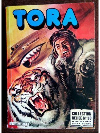 TORA LES TIGRES VOLANTS ALBUM RELIE N°30 (N°117-118-119-120) IMPERIA 1982