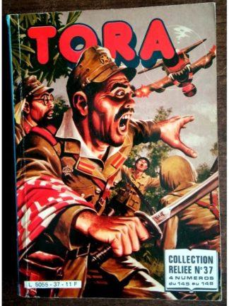 TORA LES TIGRES VOLANTS ALBUM RELIE N°37 (N°145-146-147-148) IMPERIA 1984