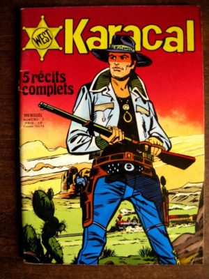 KARACAL N°2  YOR LE CHASSEUR – COBRA – SAGEDITION 1976