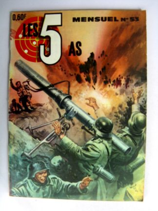 BD LES 5 AS N°53 L'agent allié - Editions IMPERIA 1969