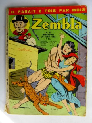 ZEMBLA N°63 LUG 1968 : La loi du Mahdi - Rakar - Gallix