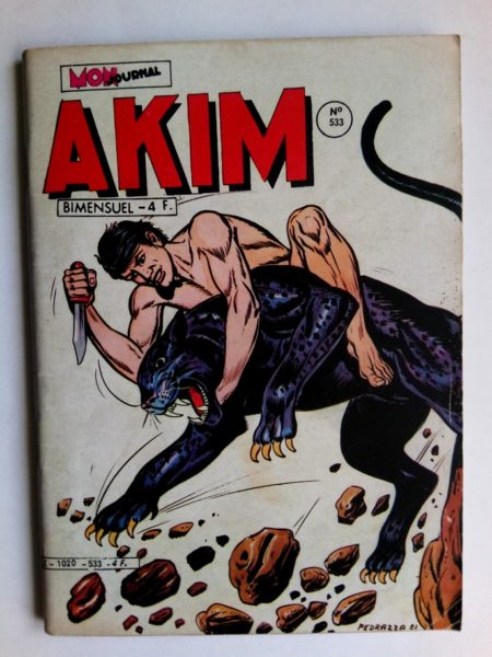 BD AKIM N°533 Les hommes-singes - Editions MON JOURNAL 1981
