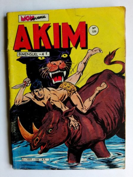 BD AKIM N°536 Feu sur la montagne - Editions MON JOURNAL 1981
