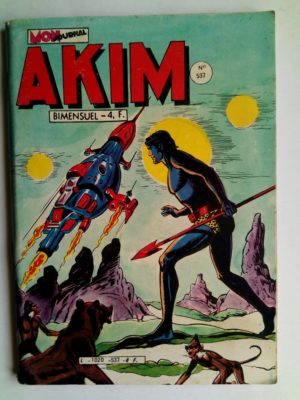 BD AKIM N°537 La savane tremblante - Editions MON JOURNAL 1981
