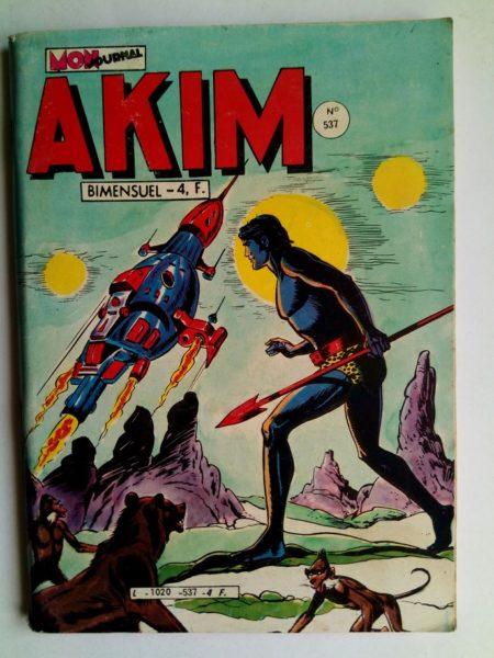 BD AKIM N°537 La savane tremblante - Editions MON JOURNAL 1981