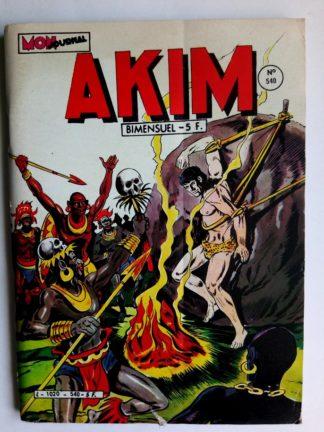 BD AKIM N°540 - LA GROTTE AU TRESOR (Mon Journal 1982)
