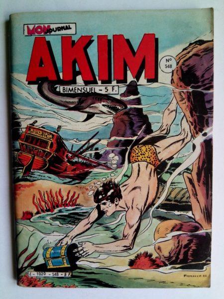 BD AKIM N°548 Le puits de la mort - Editions MON JOURNAL 1982