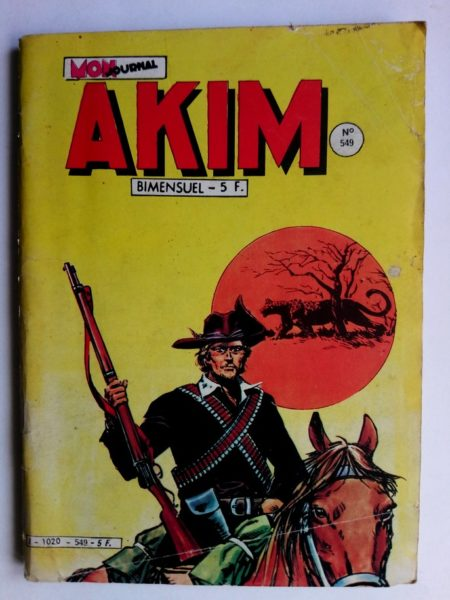 BD AKIM N°549 Le mystère de la forêt noire - Editions MON JOURNAL 1982